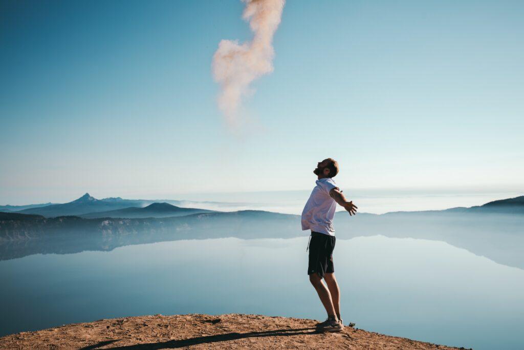 ストレス発散ができており、規則正しい生活で体質改善できているイメージ